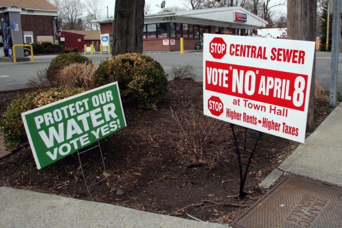 Sewer Vote Signage