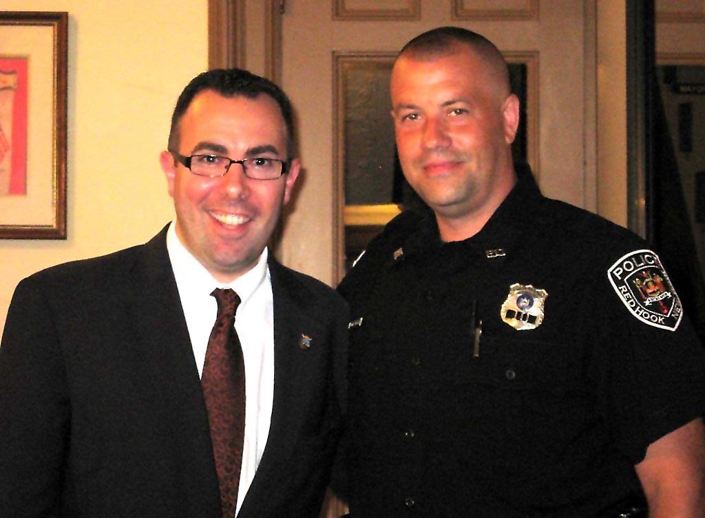 Tivoli Mayor Bryan F. Cranna and Red Hook Police Officer Michael Plass