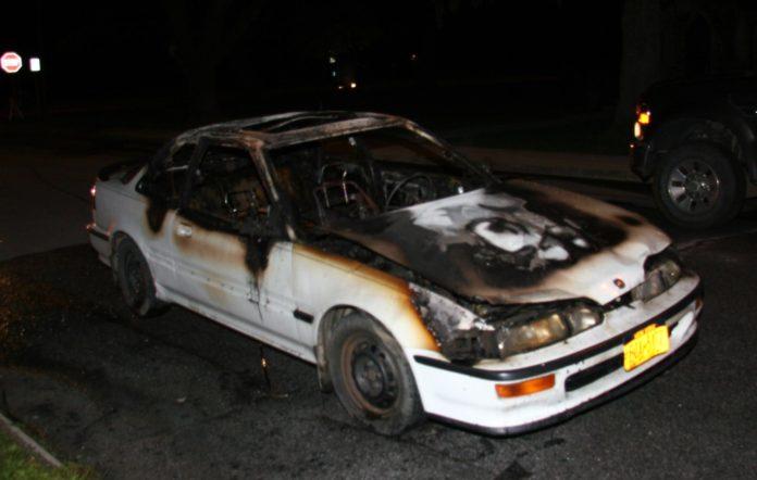Burned Car on Garden St