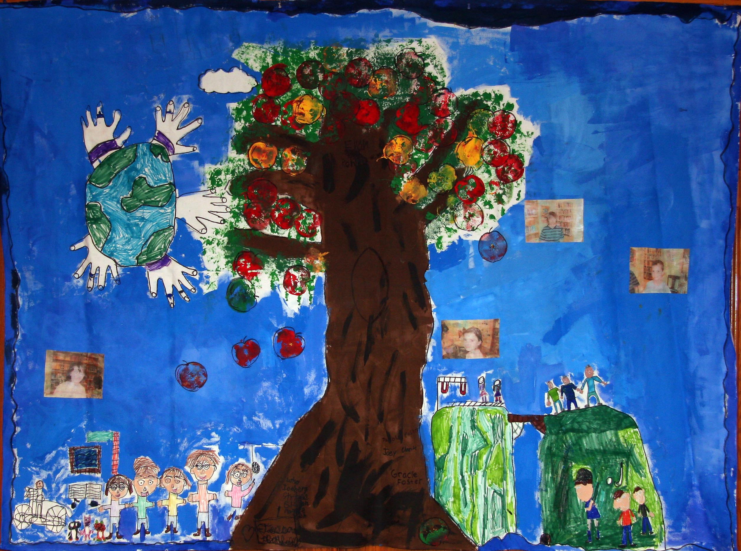 Mural created by Red Hook children