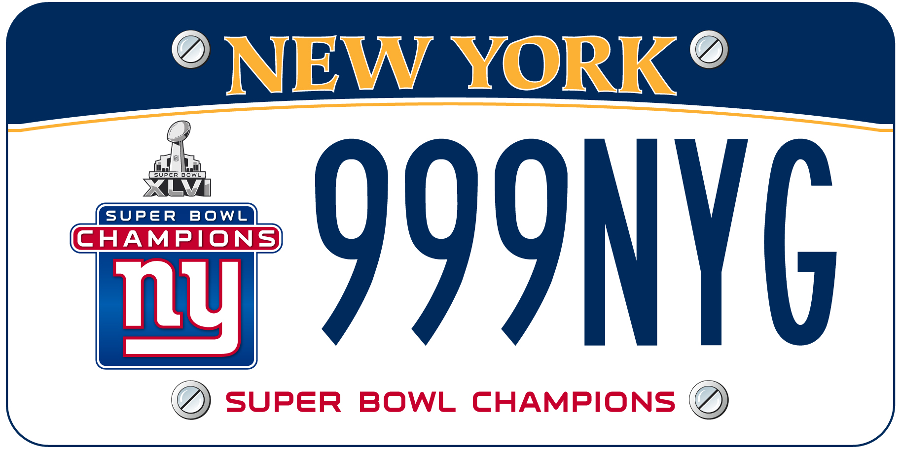 Custom license plate issued for Giants victory | Observer