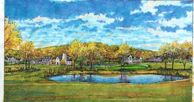 An artist's rendering of part of the Carvel/Durst project