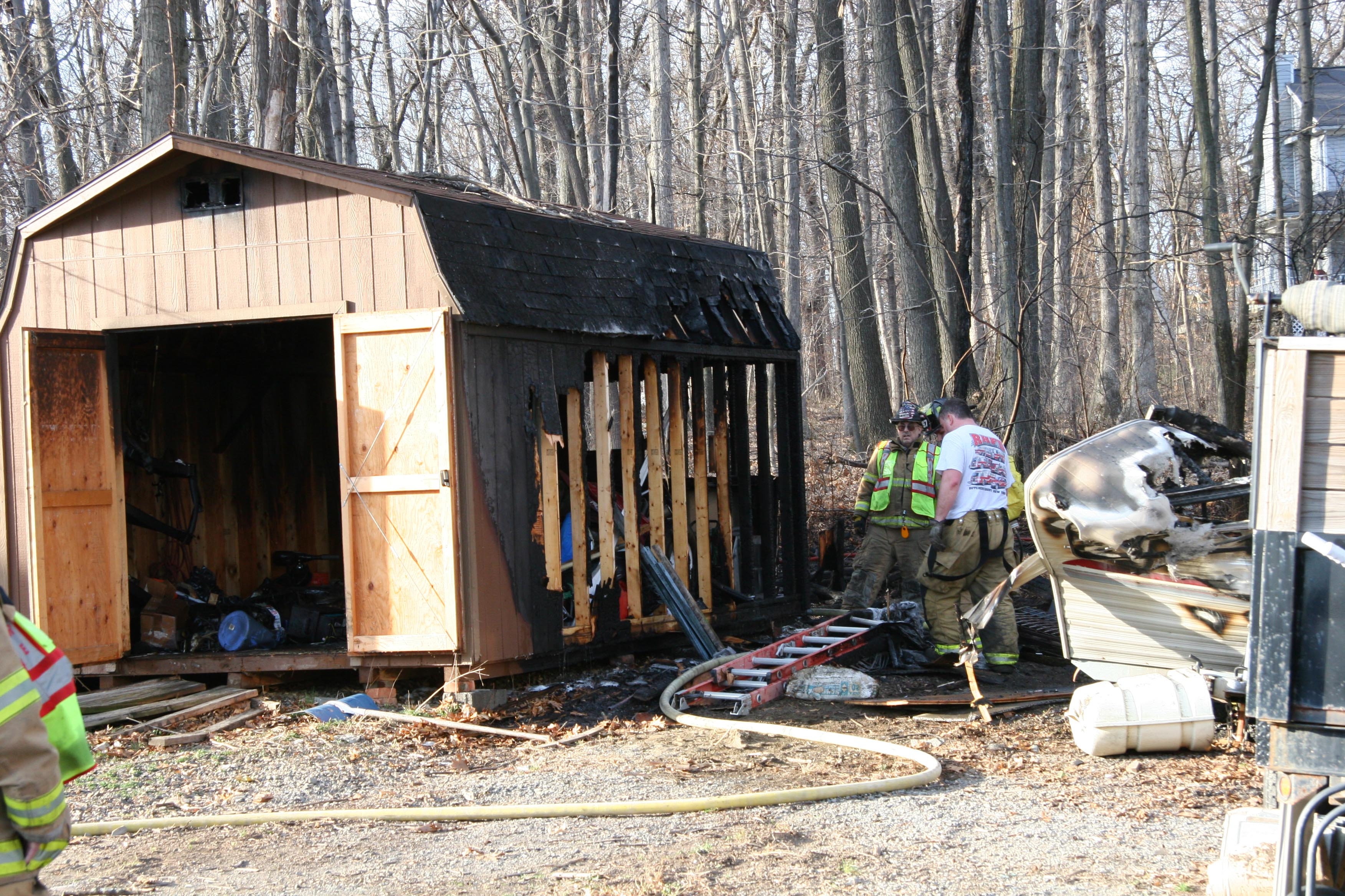 Fire damage on Huckleberry Lane