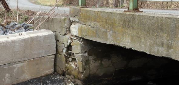 Crumbling Scism Road Bridge