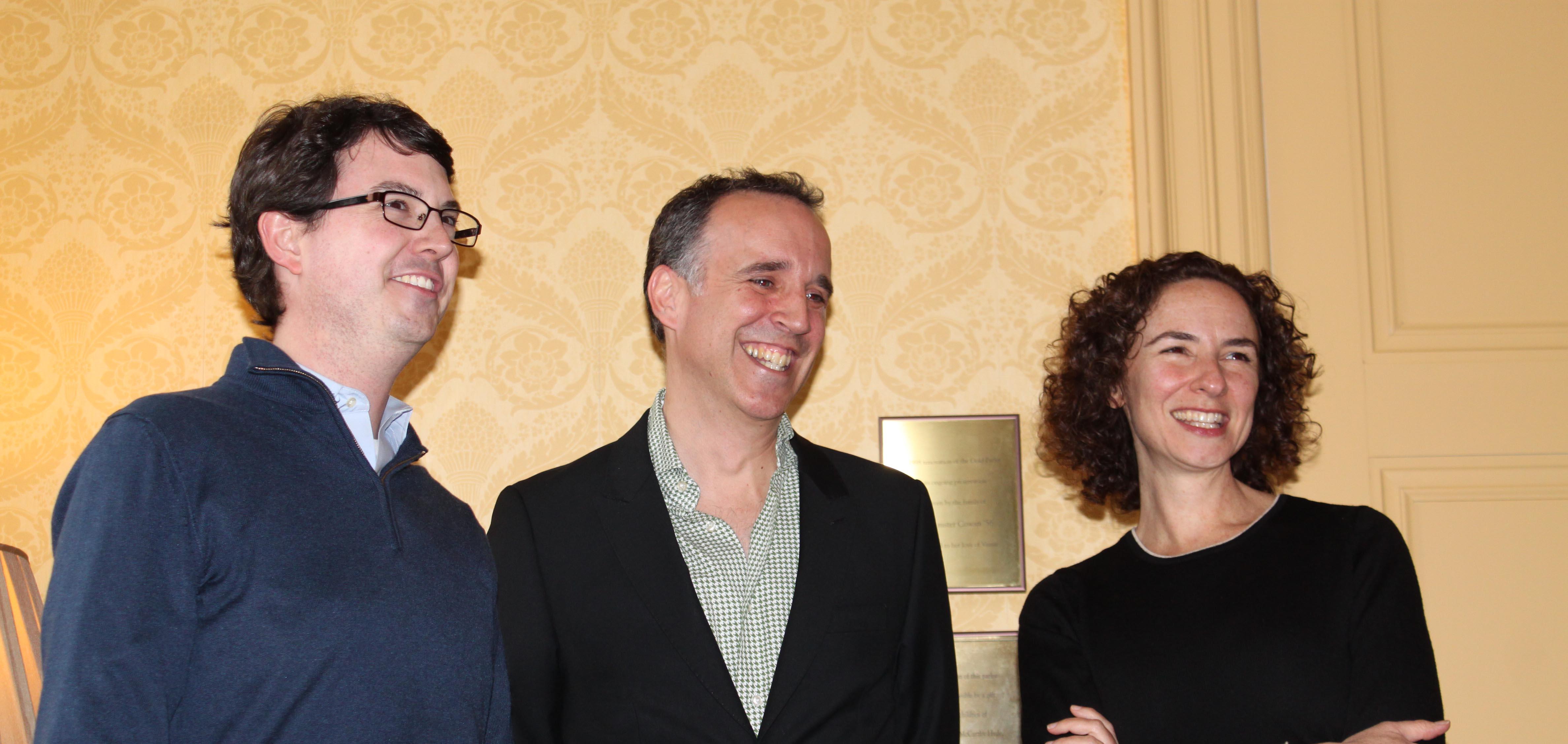 (L to R): Thomas Pearson, Edward Cheetham, Johanna Pfaelzer