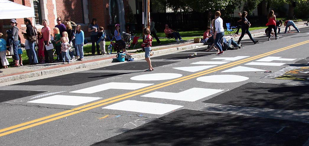 The annual Tivoli Street Painting Festival was among the events de-funded in the new Tivoli village budget.