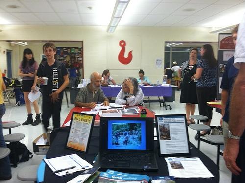 The 2011 Volunteer Fair.