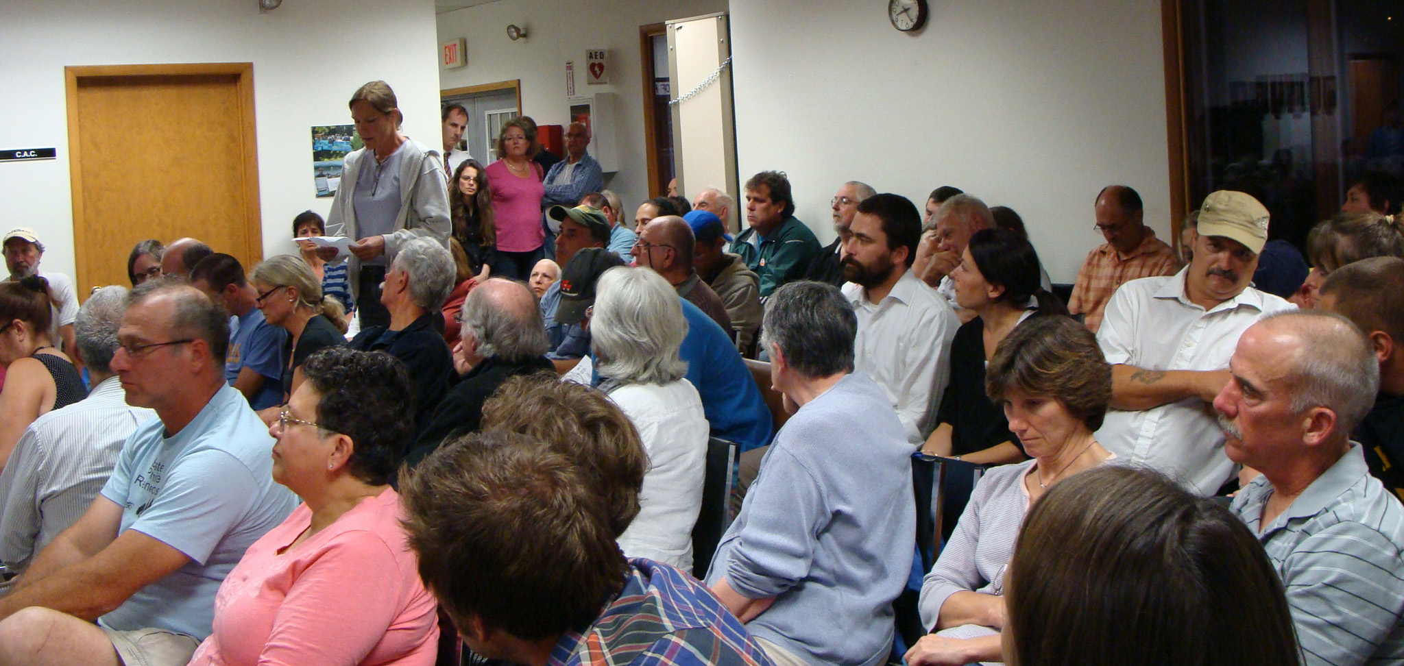 Red Hook Town Hall was the place to be on August 20 as approximately 100 people crowded into the meeting room to hear about the new development.