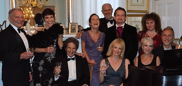 "Cast of ""Highlights from the Footlights"" (left to right) Bernie Ruderman, Marlene Golia, Jim Klosty, Katie DeFiglio, Ben Kellner, Barbara Rankin, George Conrad, JoAnne Schubert, Mary Dallari, Paul Schubert"