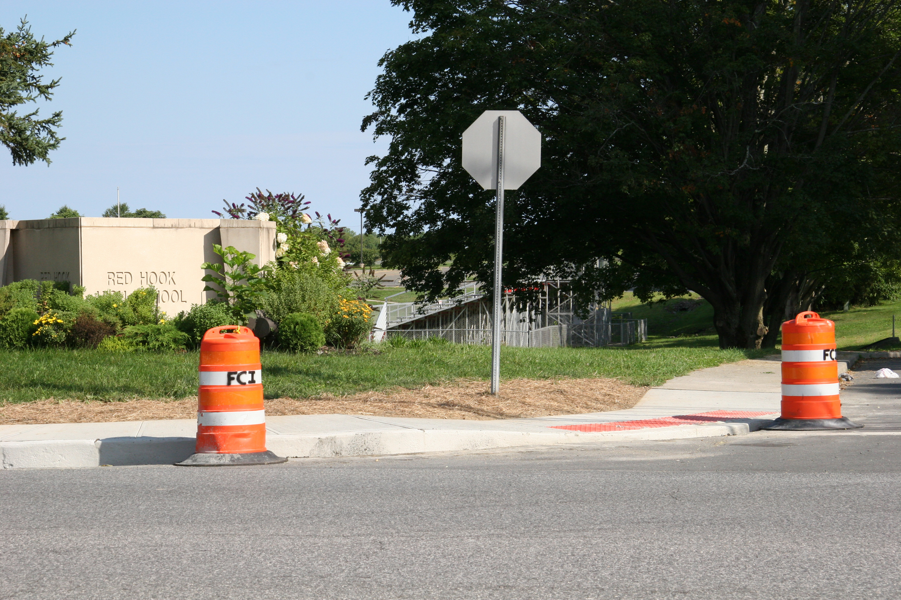 High school crosswalk