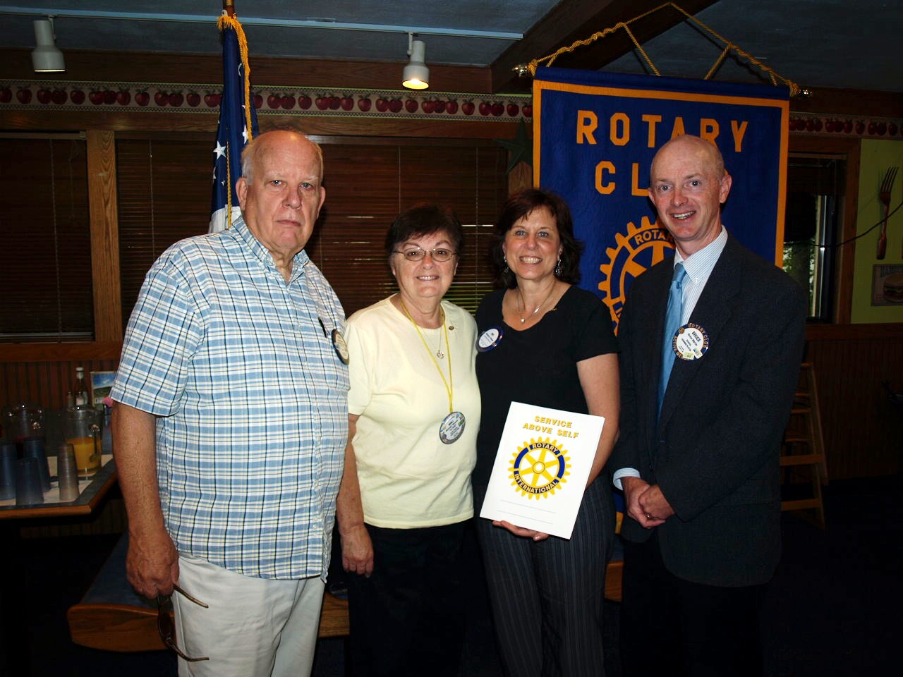 Pat Pennisi joins Rotary