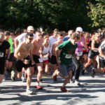5K competitors begin the 2012 Catch a Rae race headed north on Linden Avenue.