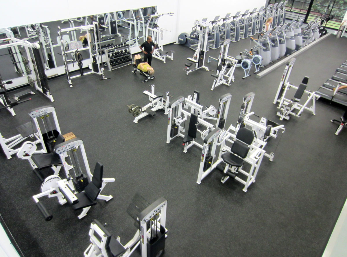 New weight room at Stevenson Athletic Center