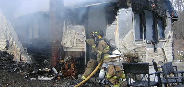 Milan house fire