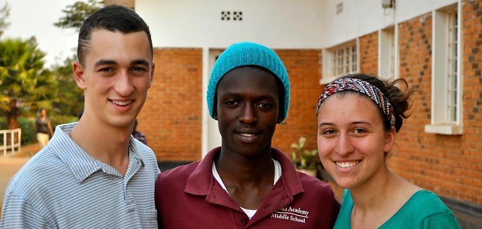 Gabriel Fekete, Jean and Chelsea Majoros in Rwanda
