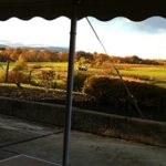 Gigi's Market pavilion with a beautiful Hudson Valley view.