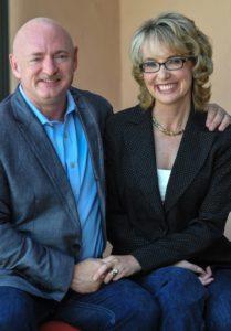 Former Congresswoman  Gabrielle Giffords and her  husband astronaut Mark Kelly