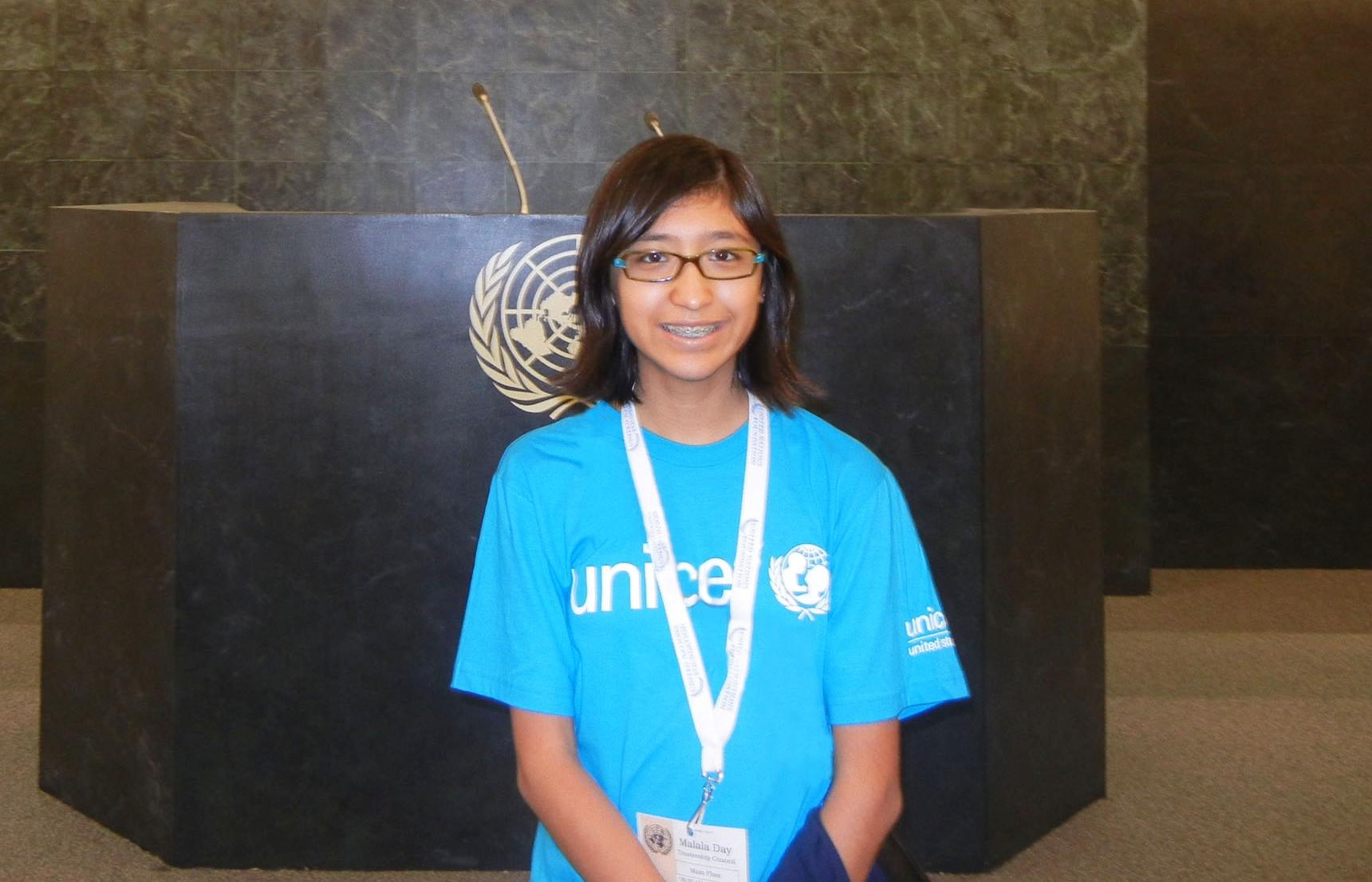 Mia Tsang at the UN on July 12.