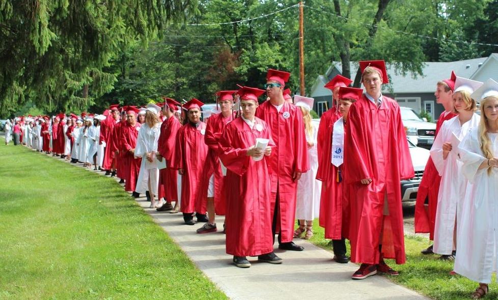Red Hook graduates lining up     Photo credit: Khynna Kuprian