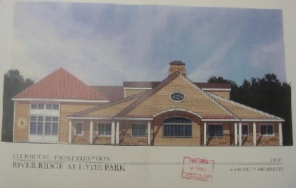Architect's rendering of the proposed River Ridge Community Recreaton Center, which was addressed at the September 4 meeting of the Hyde Park Planning Board.