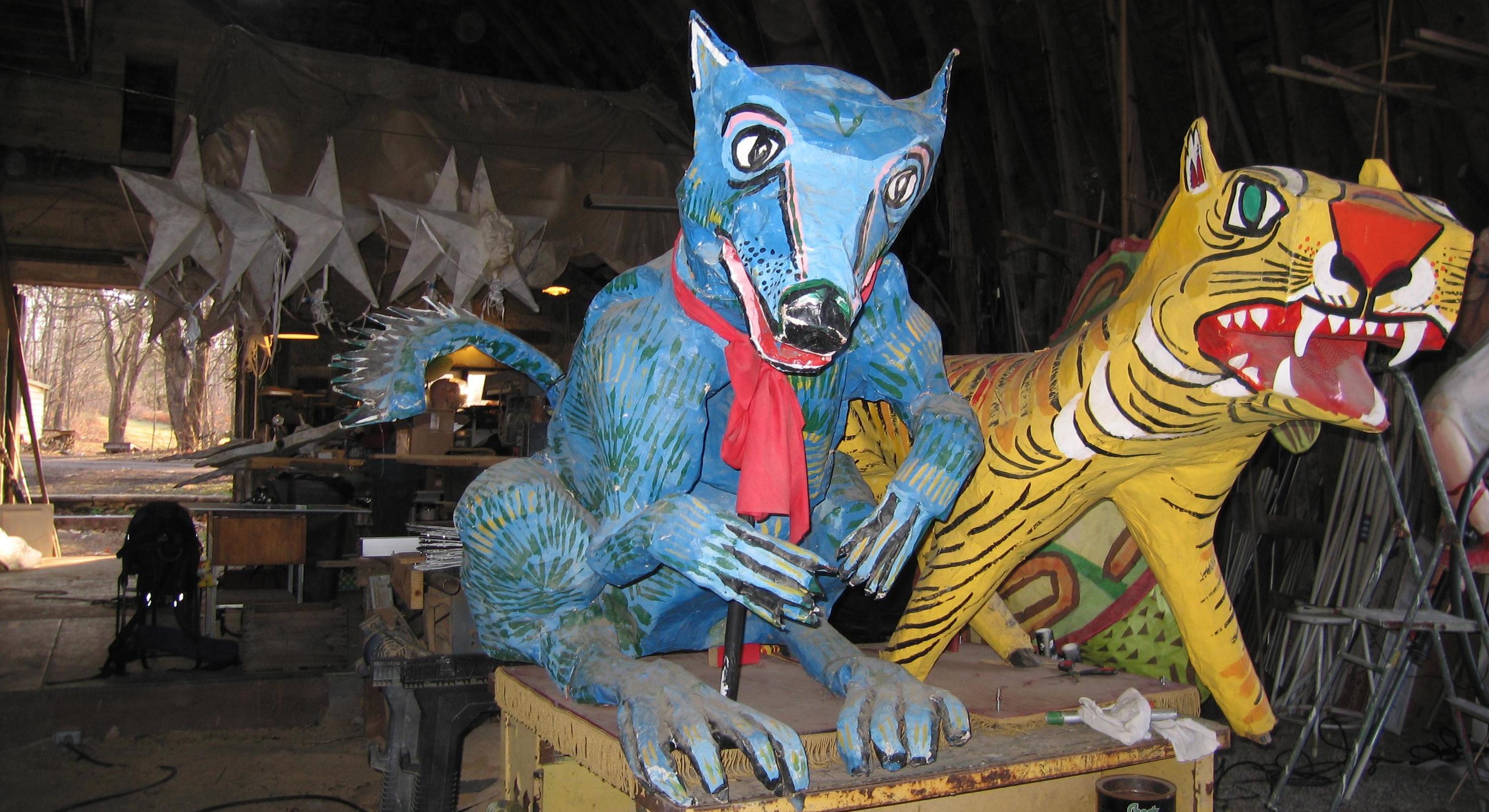 Sinterklaas dog and tiger at Rokeby