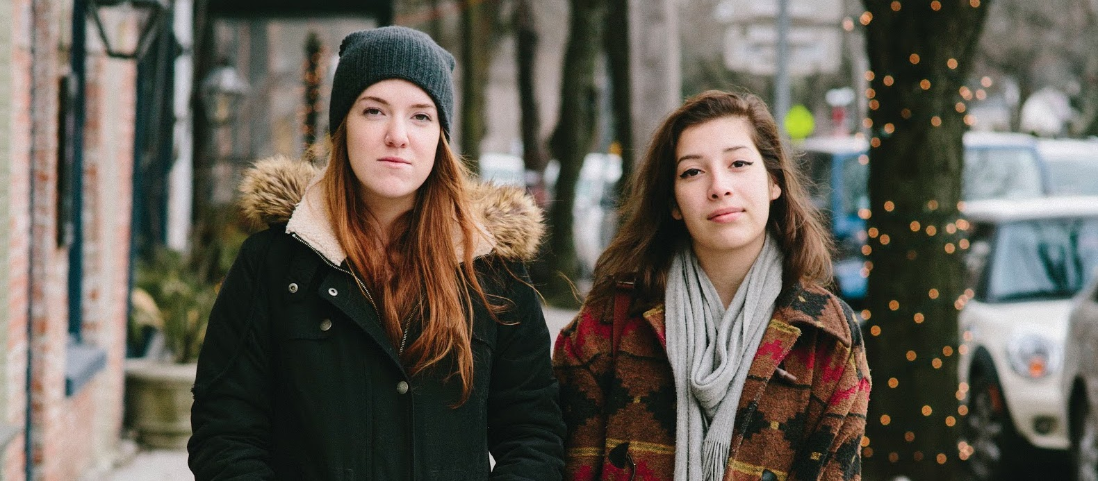 Bard students Evelina Brown (L) and Sarah McCausland pose for a magazine photographer in Rhinebeck two weeks before their deaths. Thomas Smith, for Chronogram