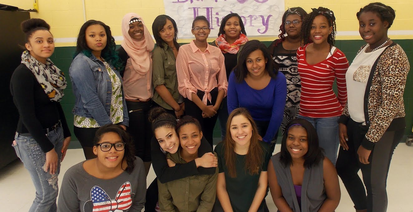 The Black History Month Committee, led by 10th grader Ayale Williams, is planning special programs for February at FDR high school, culminating in a celebration of history and culture Feb. 26. From L. to R., top row: Assima Fullenweider, Sierra Williams, Samihah Nadin, Sierra Johnson, Jasmine Brown, Asher-Leigh Boone, Naomi Mendes, Giselle Denis, Tiffany Nathan, Ayale Williams; seated: Nyasia Vanterpool, Chrystine Rodriguez, Alize Jiminez, Hannah Vuozzo, Kimberly Corrodus. Bob Kampf/The Observer