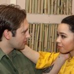 Jarek Zabczynski, who plays Chris, and Jasmin Sue Rogers, who plays Kim, rehearse for show. Courtesy Photo / Tim Hermann
