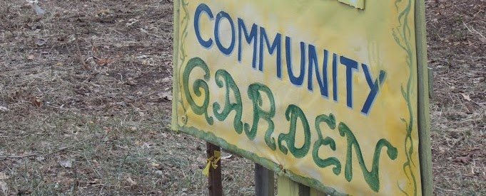 Entrance sign for the garden plots at St. James' Church. Bob Kampf / The Observer