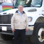 Michael Conforti with a Rainbow tanker. Arlene Wege / The Observer