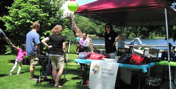 """Director of Annual Giving Jennie Stokum at Ramapo's """"Eat, Play, Give"""" community weekend in June. Arlene Wege / The Observer"""