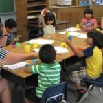 Kindergarten and pre-K students learn with Play Dough in LLL program. Carisa Weinberg / The Observer
