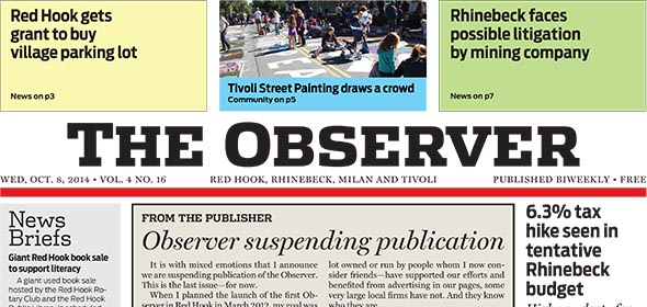 Observer suspends publication