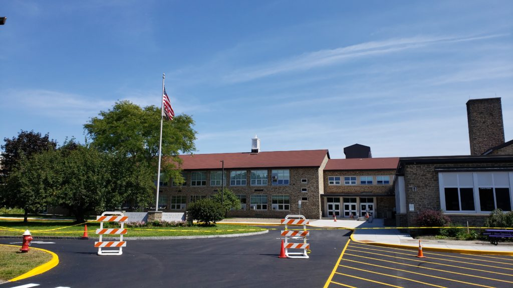 Bulkeley Middle School and Rhinebeck Central High School main entrance