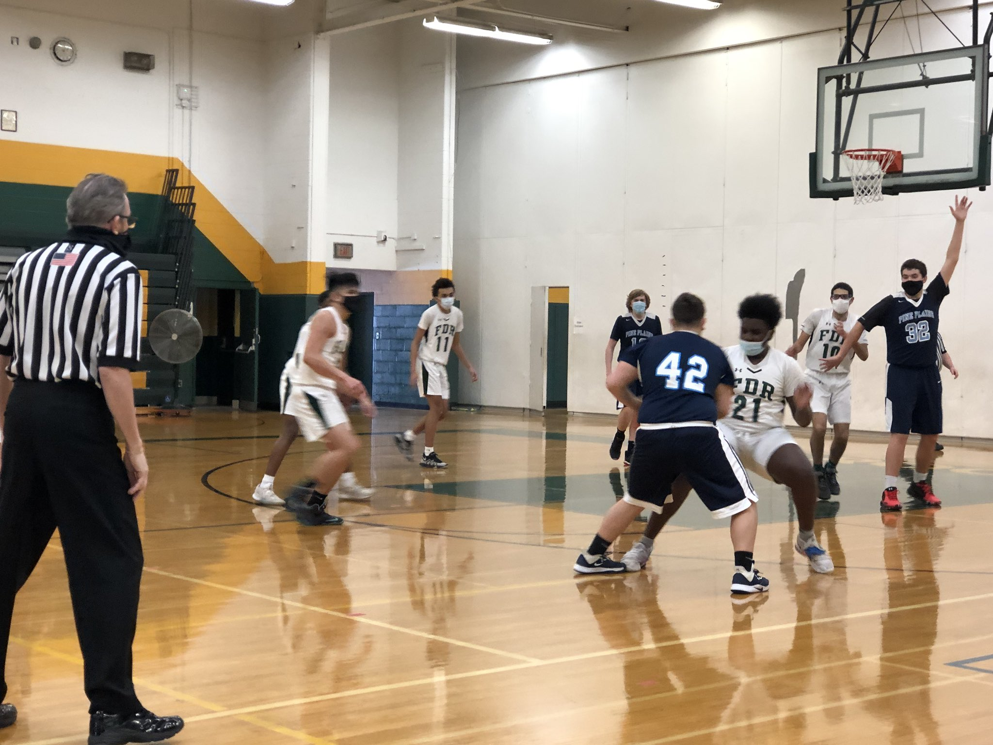 FDR JV boys basketball in action vs Pine Plains